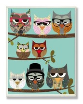 The Kids Room by Stupell Professional Owls On A Branch Rectangle Wall Pl... - $4.41