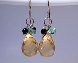 Earrings sterling multi crystals and onyx  1  thumb155 crop