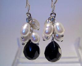 Earrings sterling crystal freshwater pearl thumb200