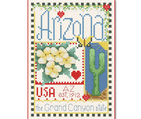 Primary image for Arizona Little State Sampler cross stitch chart Alma Lynne Originals