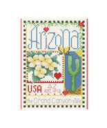 Arizona Little State Sampler cross stitch chart Alma Lynne Originals - $6.50