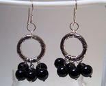 Earrings sterling onyx beads thumb155 crop