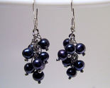 Earrings sterling sultured rice pearls black thumb155 crop