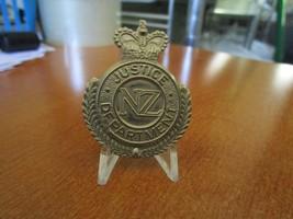 1950s Queens Crown New Zealand Justice Department Cap Badge  #1419 - $19.80