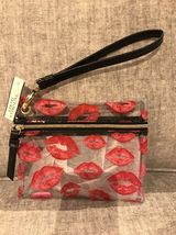 Victoria's Secret Lip Beauty Bag Wristlet New! - $19.79