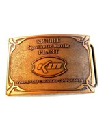 Vintage Mobile Synthetic Rutile Plant Kerr McGee KM Belt Buckle - $97.71