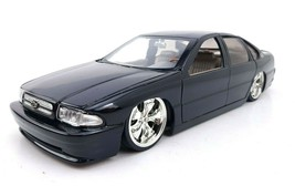 Jada Toys Chevy impala SS 1996 Black Low Rider Spinners Dub City Diecast... - $70.63