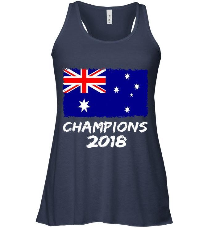 Australia Champions 2018 Football Jersey Soccer Flowy Racerback Tank
