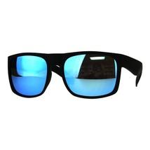 Mens Square Rectangular Fashion Sunglasses Black Frame Mirror Lens UV 400 - $10.95