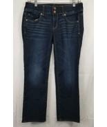 American Eagle Women's Size 4 Jeans Artists Dark Wash Stretch Jeans Reg ... - $22.15