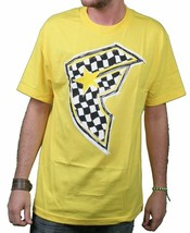 Famous Stars & Straps Yellow/Black Check It Checker BOH Badge of Honor T-Shirt S image 1