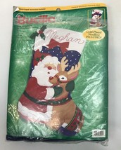 Bucilla Felt Stocking Kit Santa & Rudolph Christmas Jumbo Oversized Sequin  - $98.99