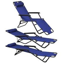 vidaXL 2x Folding Sun Loungers Reclining Chairs 3 Positions Sunbeds 3 Colors image 2