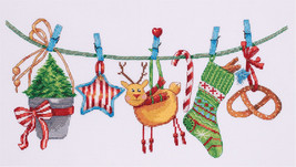 Cross Stitch Hand Embroidery Kit Xmas Festive Garland - $13.00