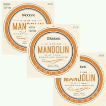 D'Addario Mandolin Strings 3-Pack Flat Tops - Phosphor Bronze Medium Loo... - $59.93