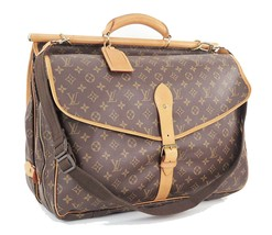 Authentic LOUIS VUITTON Monogram Sac Chasse Hunting Travel Bag #28684 - $1,125.00