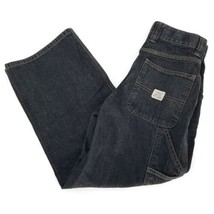 The Children's Place Carpenter Black Denim Zip Up 7 Pocket Boys Jeans Sz 10 - $14.85