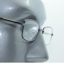Narrow Rectangle Reading Glasses Metal Gray Frame Springe Hinge +1.50 Lens - $22.00