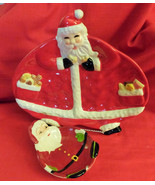 """Santa Claus Cookie or Candy Tray, 11 1/2""""wide,10 3/4""""Tall,+ Santa small ... - $18.81"""