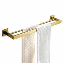 BATHSIR 304 Stainless Steel Bathroom Double Rail Towel Bar,Wall Mounted ... - $35.34