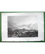 ALPS Summit of Pass of Saint Gothard Border of Italy - SCARCE 1836 Antiq... - $22.91