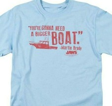 Jaws Bigger Boat T-shirt Free Shipping retro 70's 80's movie cotton tee UNI273 image 2