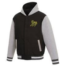 MLB Oakland Athletics Jacket JH Design Two Tone Reversible Fleece Hooded Jacket - $109.99