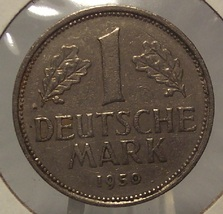 1950-J West German 1 Mark Coin #0266 - $1.99