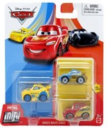 2020 Disney Pixar Cars Metal Mini Racers Dinoco Wraps 3 PK Sally Lightni... - $46.00