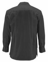 Men's Guayabera Long Sleeve Button Up Beach   Embroidered Black Dress Shirt - XL image 2