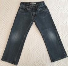 Levis 505 Boy's Straight Leg Distressed Denim Blue Jeans 26 X 26 (26 x 22) 12 R  - $8.95