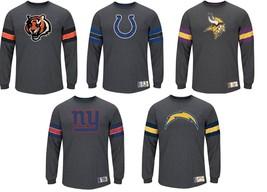 Big Men's NFL Spotlight Pieced Stripe Long Sleeve Tee Shirt Football NEW