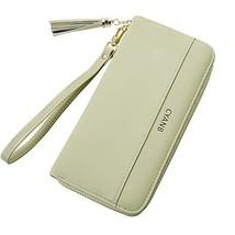 Cyanb Women Wallets Tassel Bifold Ladies Cluth Wristlet Wrist strap Long... - $16.90