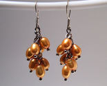 Earrings sterling cultured pearls gold thumb155 crop