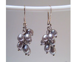 Earrings sterling cultured rice pearls gray thumb155 crop
