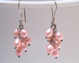 Earrings sterling cultured rice pearls pink thumb155 crop