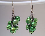 Earrings sterling cultured pearls green thumb155 crop