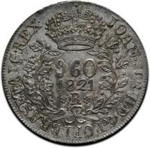1821R BRAZIL REIS 960 Silver Coin Lot# A 542