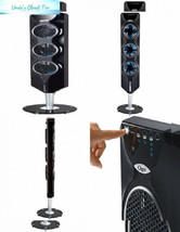 """Ozeri 3x Tower Fan (44"""") with Passive Noise Black With Chrome Accent - $97.66"""
