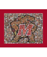 University of Maryland Mosaic Print Art Created Using Past and Present P... - $25.00