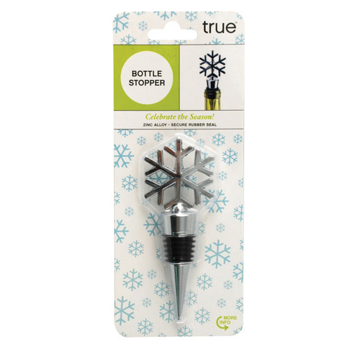 Wine Bottle Stopper, Snowy Holiday Funny Novelty Reusable Wine Bottle Stoppers