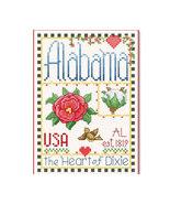 Alabama Little State Sampler cross stitch chart Alma Lynne Originals - $6.50