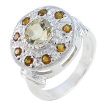 Admirable Ring Wedding Jewelry Citrine Ring Yellow Ring Gemstone Ring Lo... - $32.77