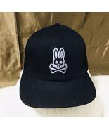 Psycho Bunny Snapback Black Embroidered Logo Adjustable Baseball Hat Cap - $44.55