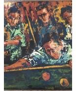 Jack Lauder: Corner Pocket (Billiards) / Mid Century Modern Oil On Canva... - $643.50