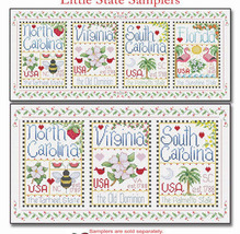 Borders for Little State Samplers cross stitch charts Alma Lynne Originals - $6.50