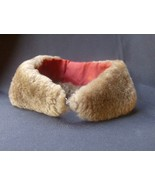 Vintage Fur Collar Gray w Red lining  - $8.99
