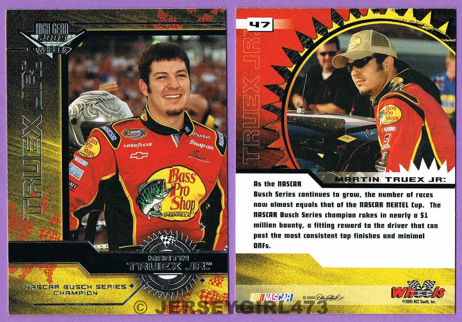 Martin Truex Jr. 2005 Wheels NBS Champion NASCAR Racing Card #47
