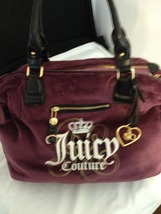 Juicy Couture Purple/Plum Velour Handbag with Golden Heart Charm - New w... - $199.00