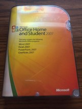 Microsoft Office Home and Student 2007 Word Excel PowerPoint OneNote Dvd... - $10.39